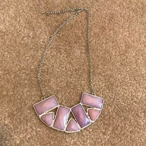 Light purple bib necklace